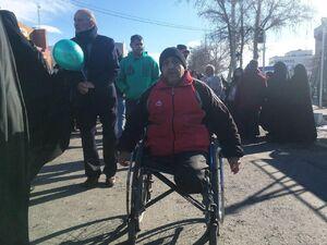 عکس/ جانباز تهرانی در مراسم راهپیمایی