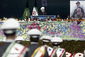 عکس/ سخنرانی رئیسجمهور در مراسم ۲۲ بهمن