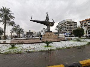 عکس/بغداد بعد از سالها به خود برف دید
