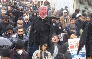 ترامپ عصبانی در راهپیمایی ۲۲ بهمن