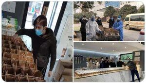 کمک داوطلبانه یک ایرانی به مردم چین +عکس