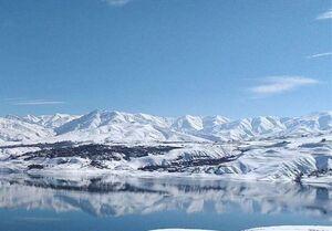 عکس/ دریاچه سد طالقان در برف