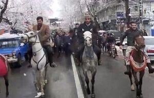 راهپیمایی سواره تالشان به یاد میرزا در ۲۲ بهمن
