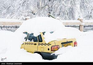 عکس/ وضعیت رشت بارش برف سنگین