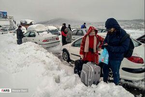 """عکس/ برف و کولاک در""""امامزاده هاشم گیلان"""""""