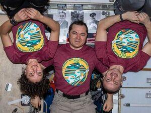 تصویری جدید از فضانوردان باقیمانده در فضا
