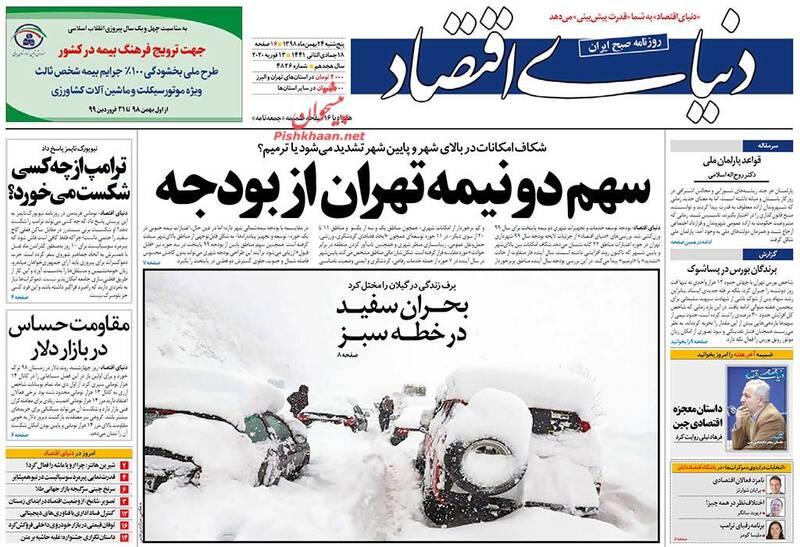 دنیای اقتصاد: سهم دو نیمه تهران از بودجه
