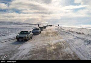 بارش برف در منطقه ارسباران