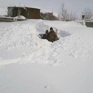 عکس/ ارتفاع برف در خلخال