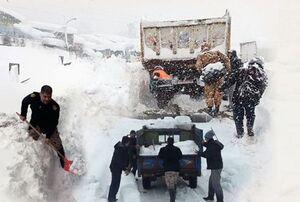 مجاهدانی که برف را غنیمت خدمت شمردند