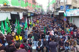 تظاهرات فلسطینیها در غزه علیه معامله قرن +عکس