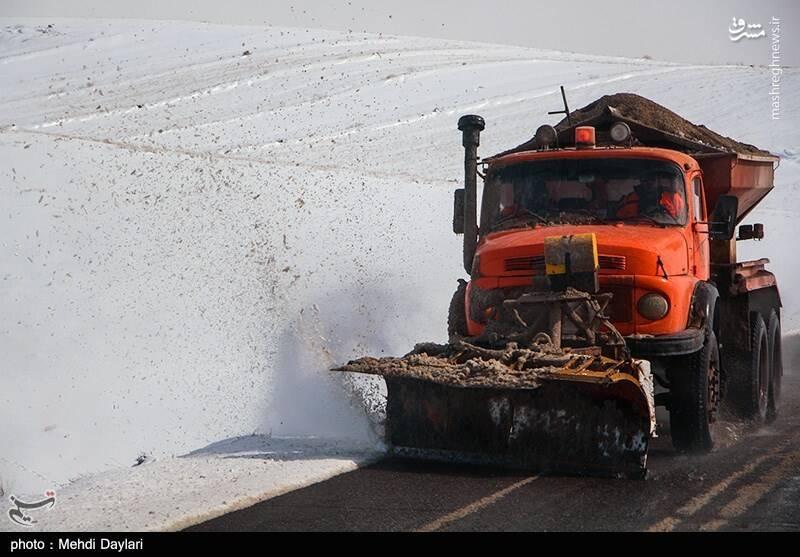 عکس/ بارش برف در منطقه ارسباران
