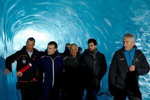 بازدید ماکرون از یخچال طبیعی در رشته کوههای آلپ