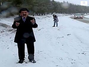 فیلم/ حمله با برف به کارشناس هواشناسی!