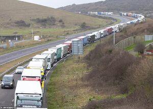 توقف کامیونهای باربری در انگلیس