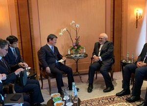 دیدار ظریف با وزرای خارجه ژاپن و اسپانیا در پارلمان اروپا در مونیخ
