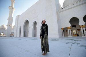 ایوانکا ترامپ در مسجد شیخ زاید