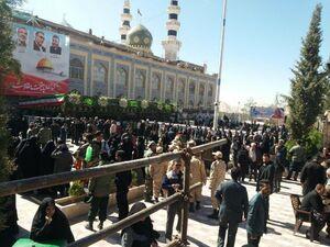 عکس/ صف طولانی مشتاقان زیارت مزار سردار سلیمانی