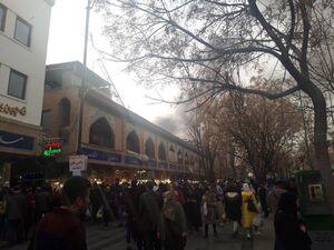 آتش سوزی در محدوده بازار و سبزه میدان تهران