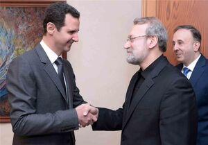 دیدار لاریجانی با رئیس جمهور سوریه