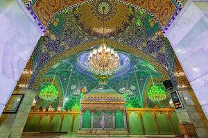 فیلم/ تشرف رئیس مجلس به زیارت حضرت رقیه (س)