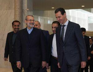دیدار لاریجانی با بشار اسد