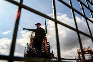 تندیس سردار شهید قاسم سلیمانی در مرز لبنان با فلسطین