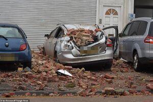 عکس/ خسارت شدید طوفان در انگلیس