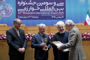 عکس/ روحانی در جشنواره بین المللی خوارزمی