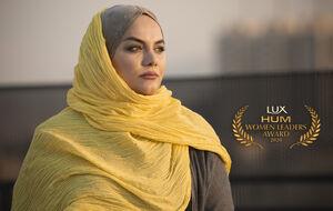 فیلم/ اهدای جایزه زن موفق جهان اسلام به نرگس آبیار