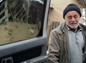 فیلم/ بغض یک مرد روستایی که برف خانه خرابش کرد
