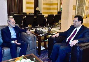 دیدار لاریجانی با نخستوزیر لبنان