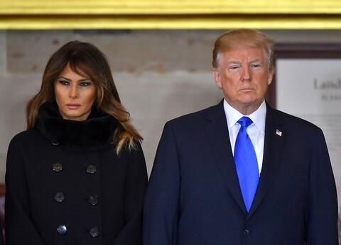 فیلم/ ترامپ به سبک حیوان خانگی ملانیا را صدا کرد!