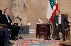 عکس/ سفر لاریجانی به لبنان