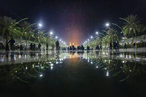 عکس/ بارش رحمت الهی در کربلا