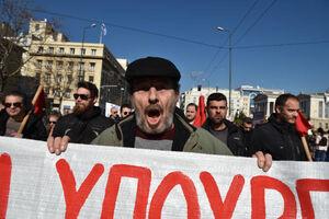 """فیلم/ معترضان یونانی: """"پمپئو به خانهات برگرد"""""""