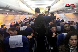 عکس/ اولین پرواز از فرودگاه بینالمللی دمشق به حلب