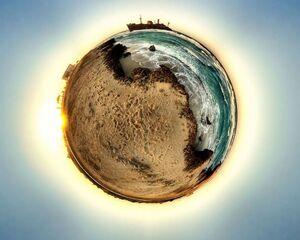 تصویر 360درجه زیبا از جزیره کیش