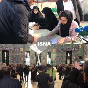 عکس/ حضور مردم در ساعات اولیه انتخابات در حسینیه ارشاد