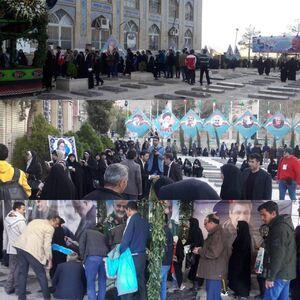 عکس/ گلزار شهدای کرمان دقایقی پیش از آغاز زمان رای گیری