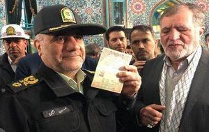 عکس/ حضور سردار رحیمی در شعبه اخذ رای