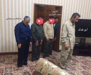 نماز حاج قاسم پشت سر جانشین ابومهدی المهندس +عکس