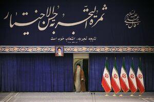 عکس/ دیوار نوشته بیت رهبری در روز رای گیری