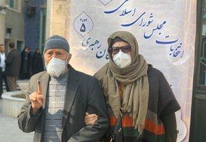 حضور مرد و زن سالخورده تهرانی در انتخابات
