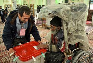 عکس/  عجیبترین رای دهنده امروز