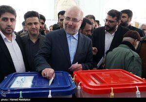 عکس/  حضور محمدباقر قالیباف پای صندوق رای