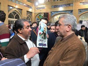 عکس/ وزیر نیرو در مسجد لرزاده
