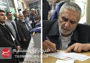 عکس/ حاج منصور ارضی پای صندوق رای