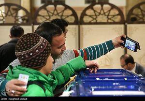 عکس/ سلفی با صندوق رای