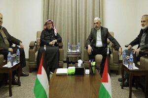 دیدار رئیس دفتر سیاسی حماس با مقام قطری